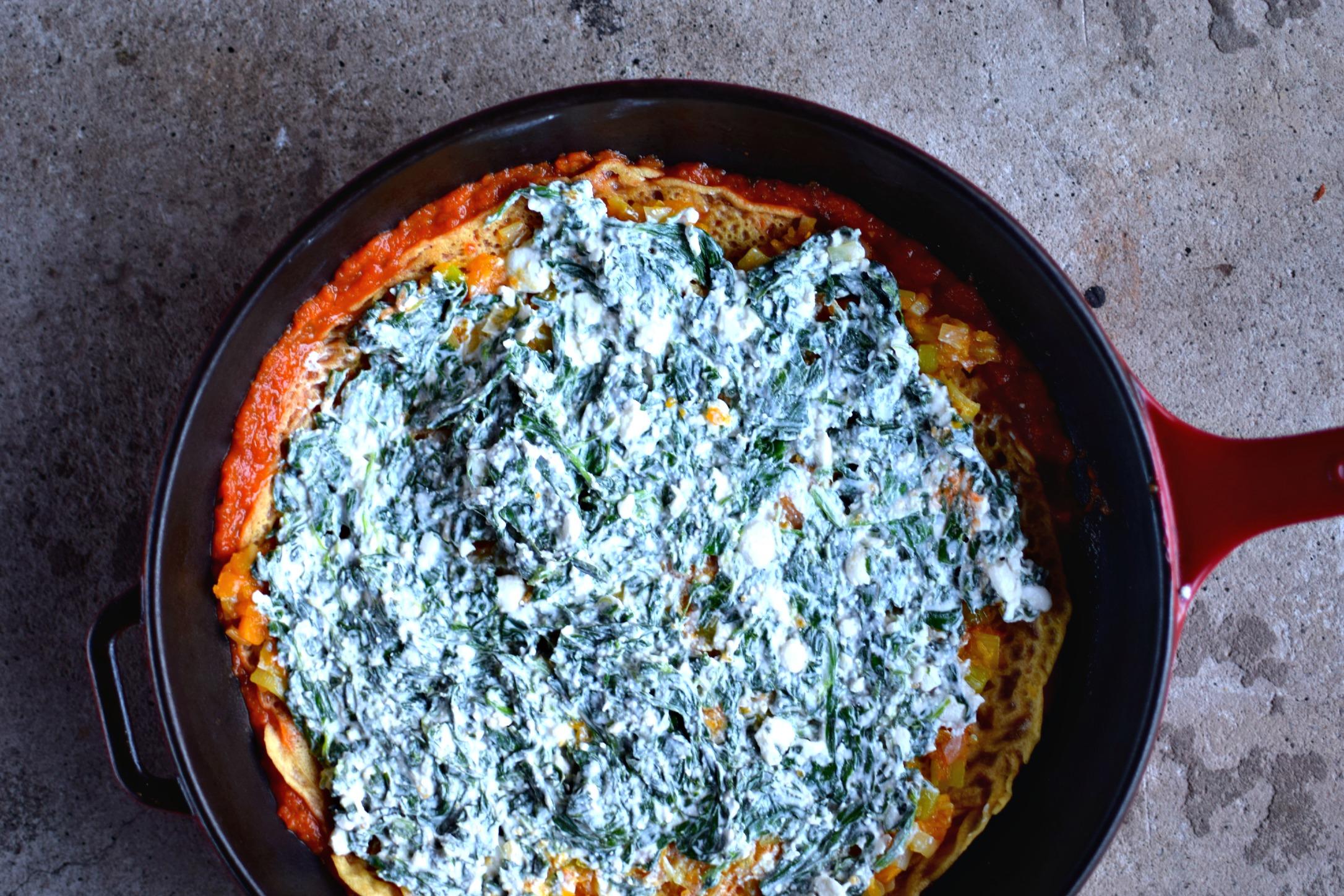 Farinata Lasagne with Creamy Spinach & Roasted Squash {gluten-free ...