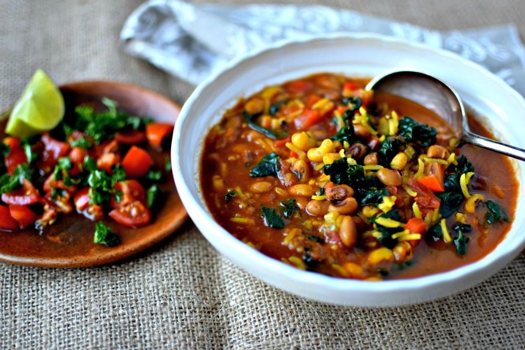 black eye peas stew