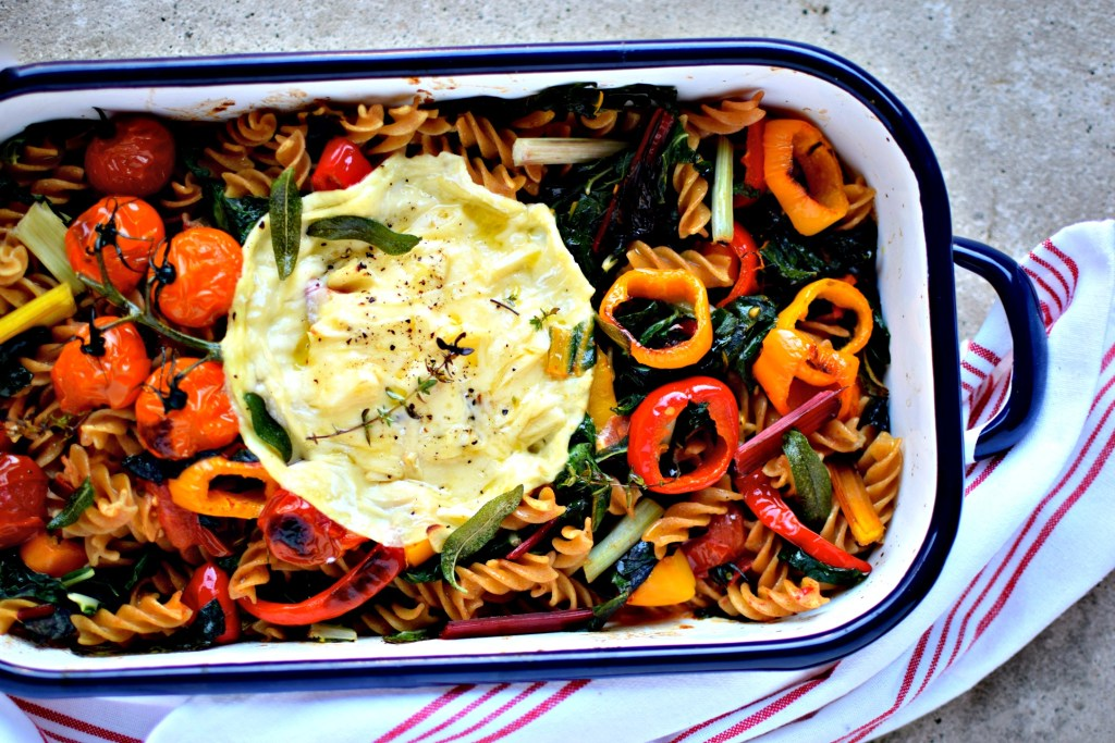A good quality gooey cheese is all you need to make a luscious sauce for this easy, family-friendly vegetable pasta bake.