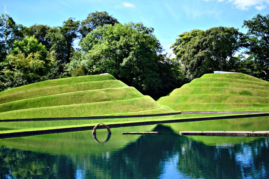 Jupiter Artland sculpture park entrance, designed by Charles Jencks.