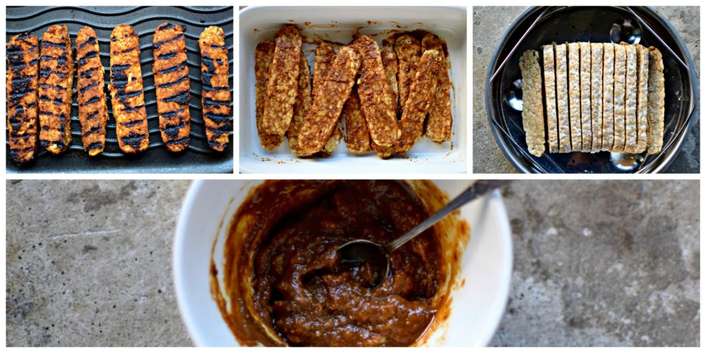 Tempeh - fermented whole soy cakes - is extremely nutritious but not well-known in the West. This easy recipe makes this healthy, vegan protein much more accessible with a delicious miso and ginger glaze. Griddle or pan-fry and enjoy with the spicy lime-dressed salad.