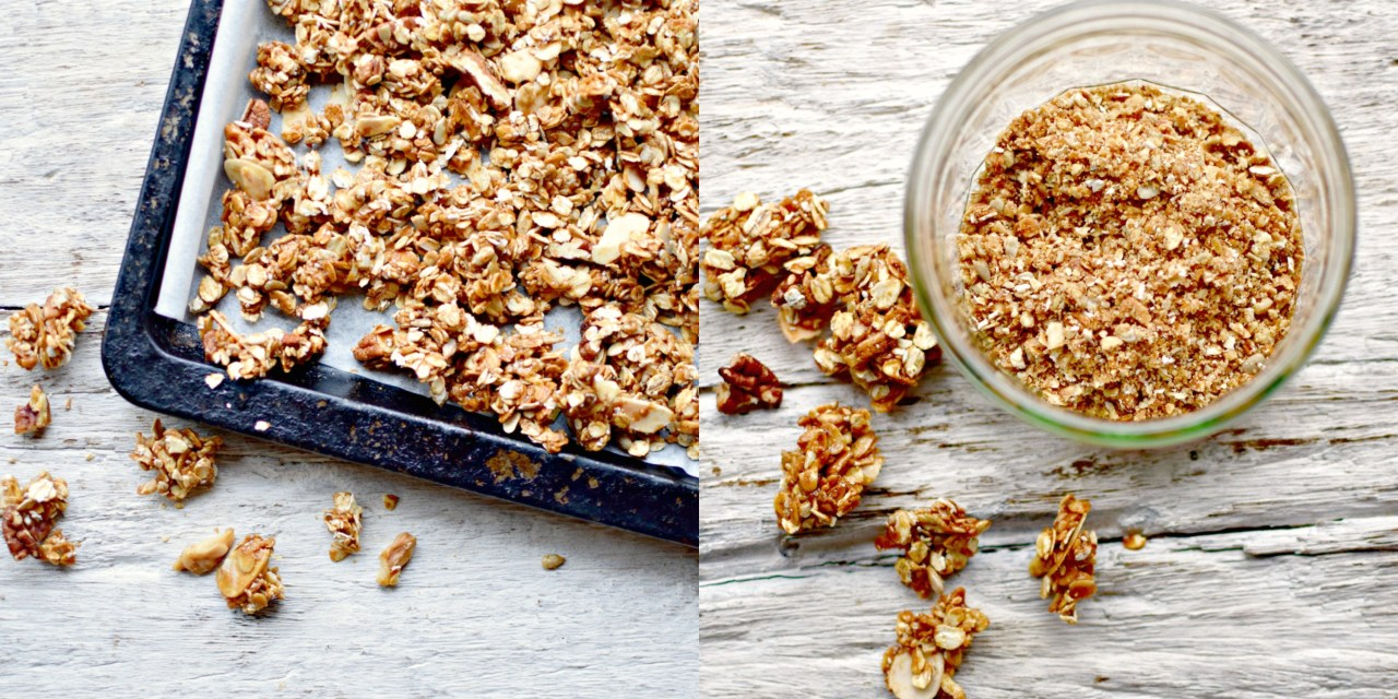 granola for peach melba cranachan