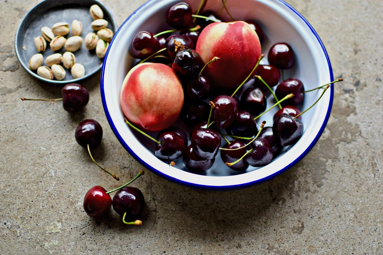 cherries and nectarines
