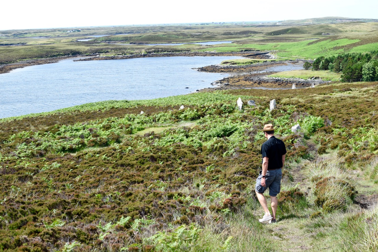 walking in the outer hebrides, scotland, uk