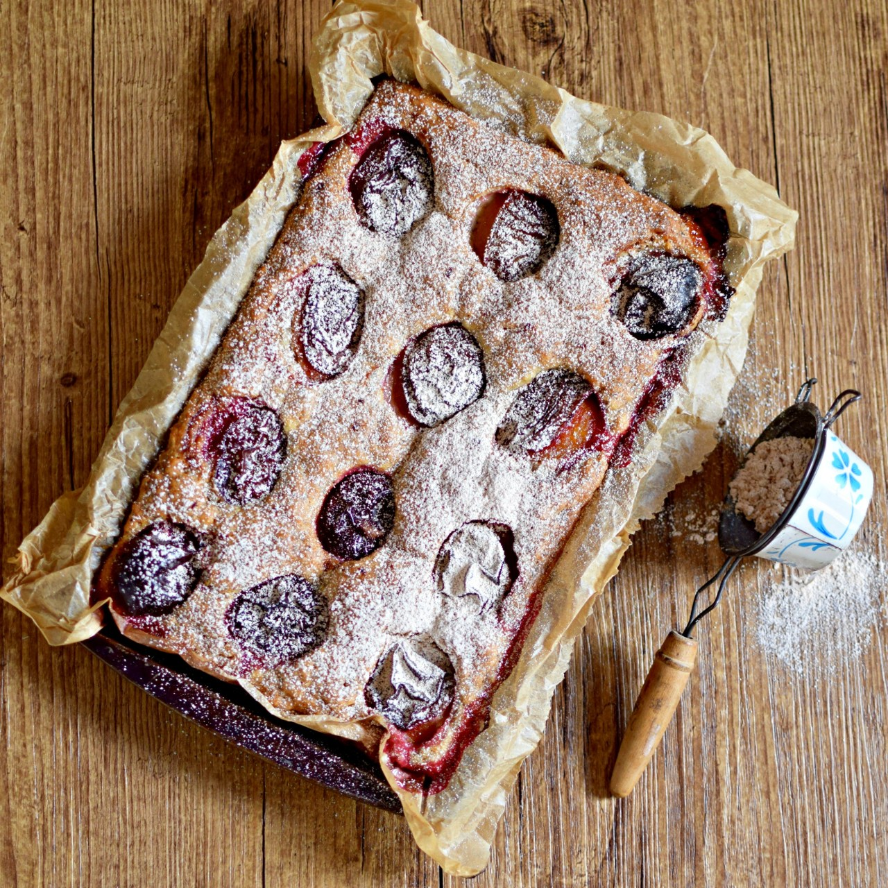 plum and poppyseed cake from wild honey & rye cookbook