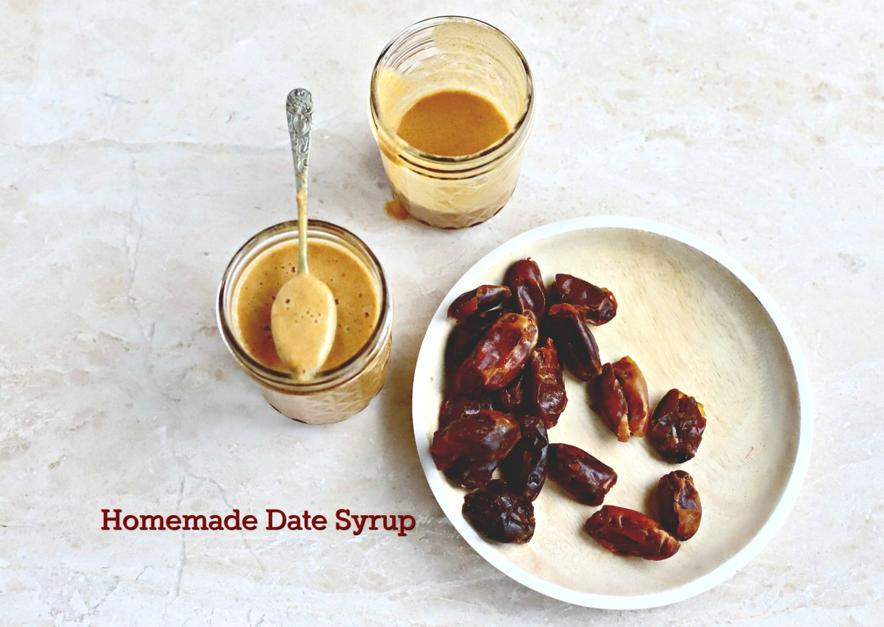 delicious and easy homemade date syrup for natural, wholesome #baking #datesyrup #condiments #sauces #healthybaking #recipe