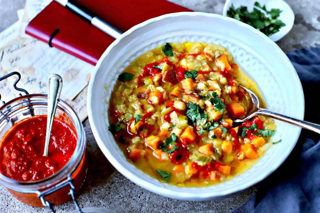 piri piri lentil and sweet potato soup