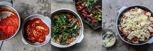 cheesy quinoa and vegetable bake