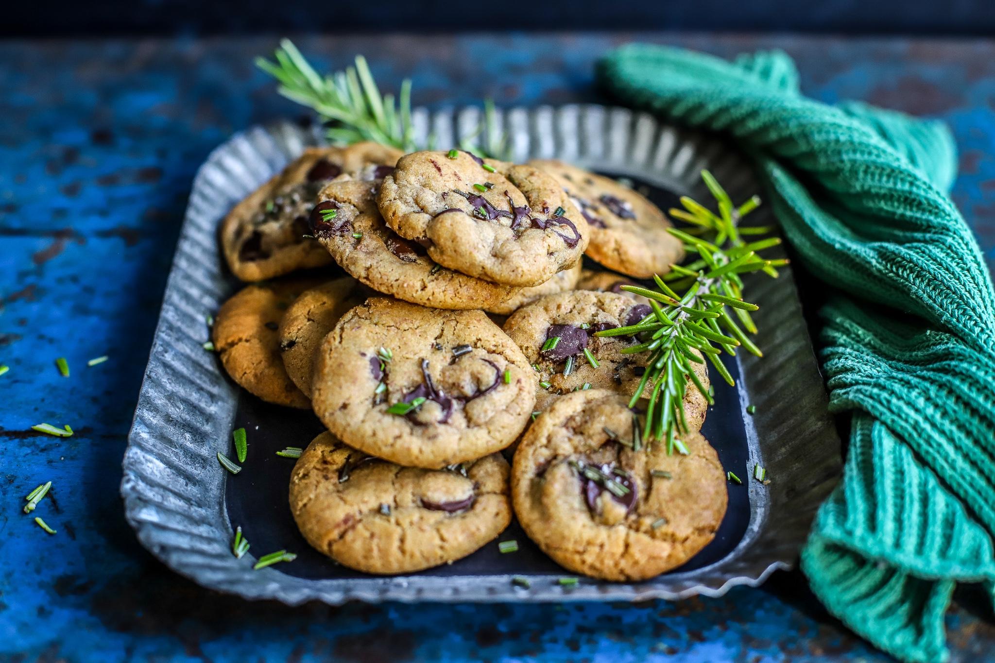 Rosemary Chocolate Chip Cookies {eggless, easily vegan recipe} - food to  glow