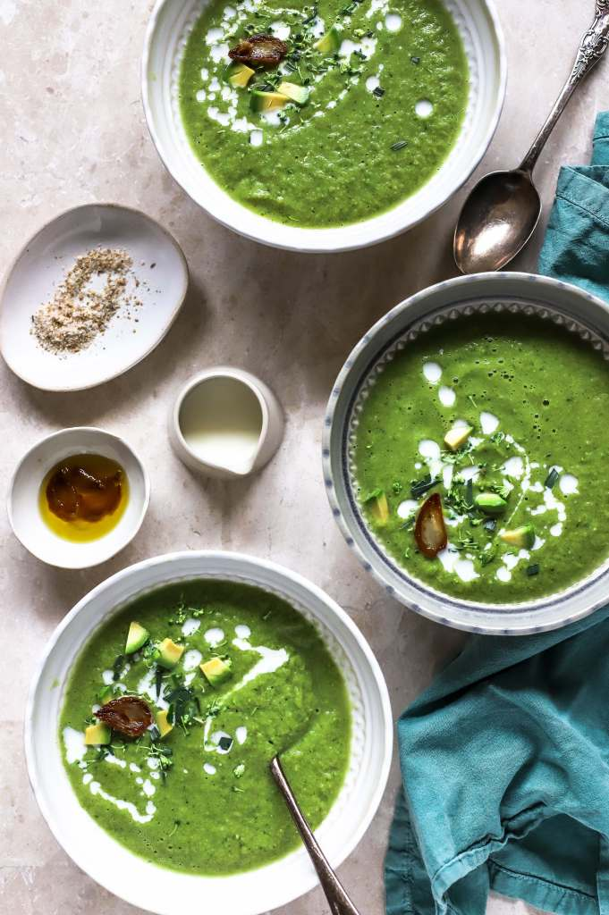 the creamiest green soup