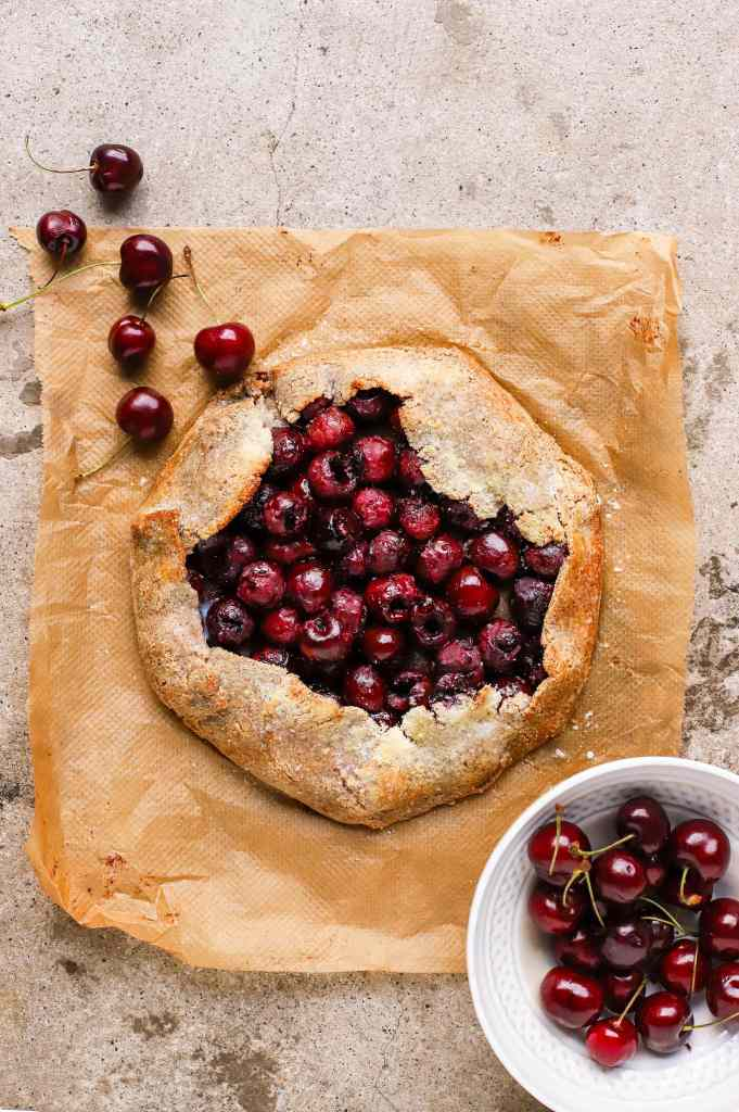 bakewell cherry galette