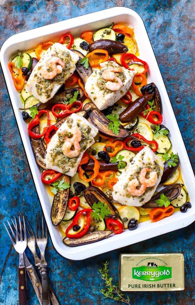 sheet pan mediterranean fish