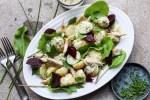 potato and smoked fish salad