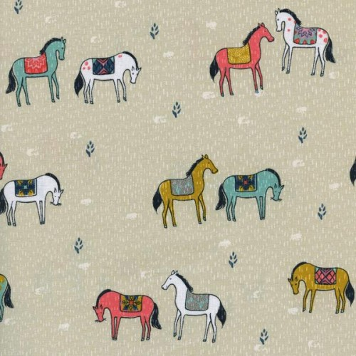 Horseback Neutral Honeymoon Collection by Sarah Watt's by Cotton and Steel