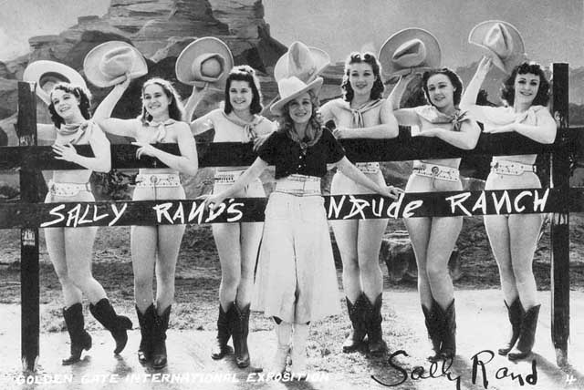 Sally Rand and her girls.