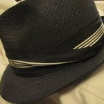Favorite vintage straw hat. Gorgeous fancy band, probably mid 1960s. A Dobbs.