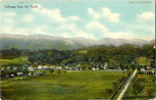 Early color postcard of Calistoga