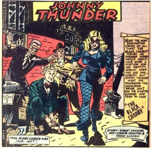 The first appearance of the femme fatale-looking Black Canary.