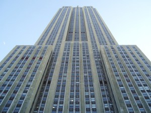 Looking Up at Empire State Building