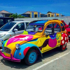 "chichi cars-In the Papiamento language spoken on the southern Caribbean island of Curaçao, the word ""chichi"" refers to a respected elder sister or female relative to whom younger family members would go to for advice or emotional support. Locally, you can buy them as souvenirs. They are big boobed and big butted...some find it offensive, but hey."