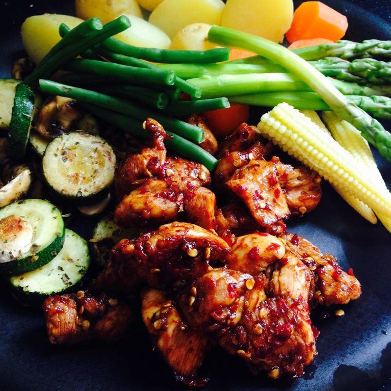 Chilli Chicken (2.5 syns). Recipe here: https://kellsslimmingworldadventure.wordpress.com/2015/06/01/recipe-chilli-chicken/