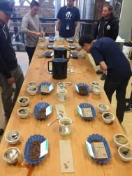 Verve coffee tasting