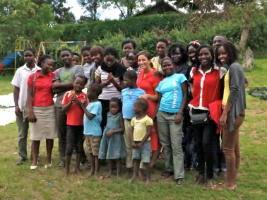 Kelly's students at the Baby's Home