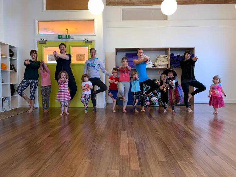 Family yoga with KellyAnn Yoga