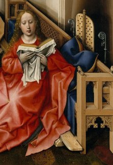 Detail of the Virgin Mary in the Merode Altarpiece