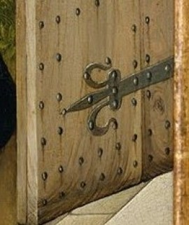 Detail on the Merode Altarpiece by the Master of Flemelle