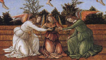 Detail from Botticelli's Mystic Nativity