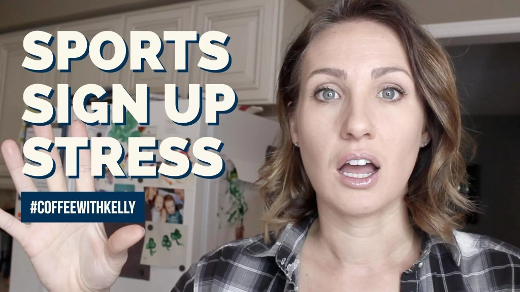 How to Deal with Sports Sign Up Stress