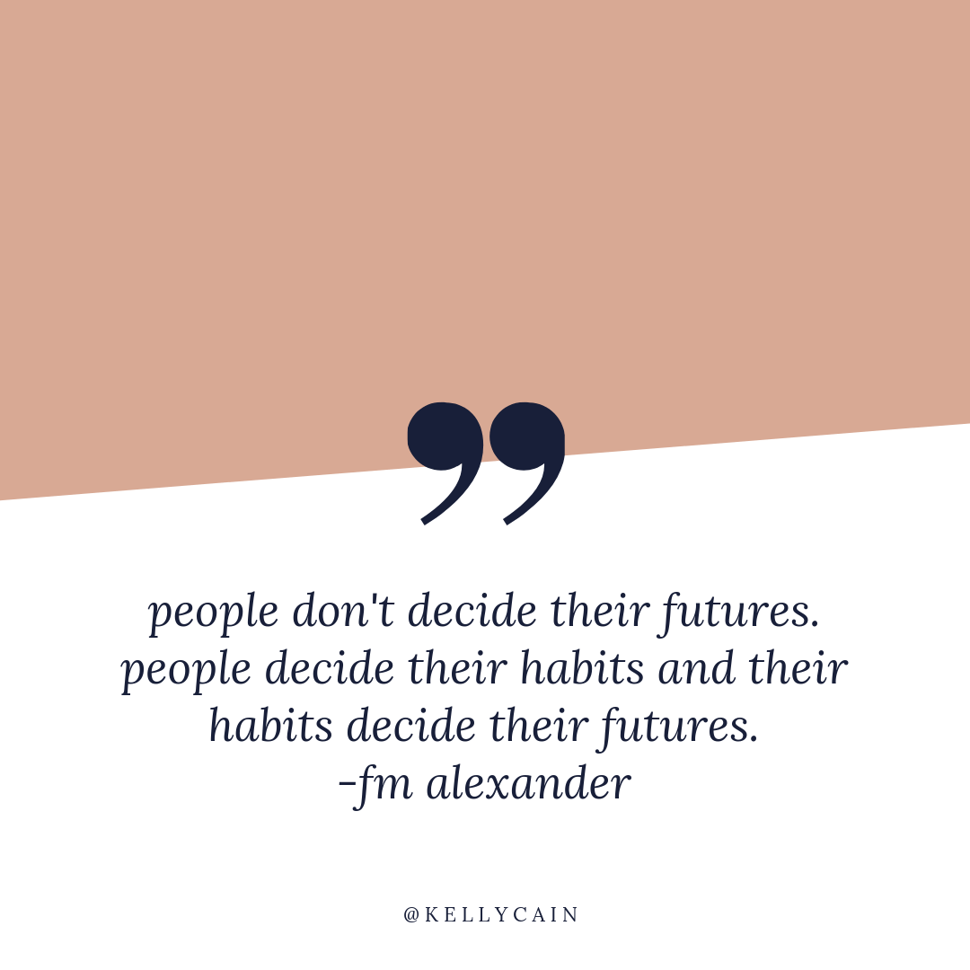 people don't decide their futures. people decide their habits and their habits decide their futures. | inspirational quotes | kellycain.com
