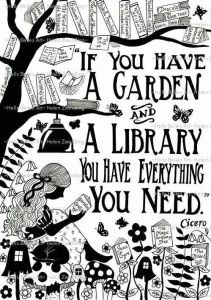 Library and Garden
