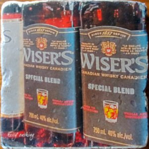 Wiser's Whiskey Coaster by Kelly Cushing