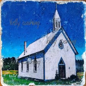 Fort Langley Church Coaster by Kelly Cushing