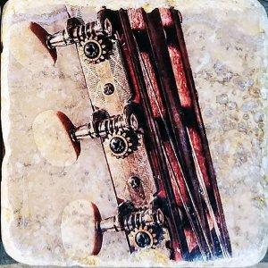 Guitar Head Coaster by Kelly Cushing