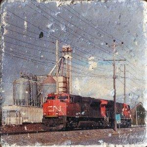 Langley Train Coaster by Kelly Cushing