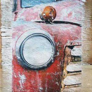 Chevy Headlight Wall Decor by Kelly Cushing