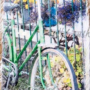 Green Bike Wall Decor