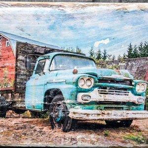 Barn & Chevy Truck Wall Decor
