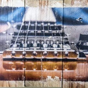 Electric Guitar to Jeans Wall Decor