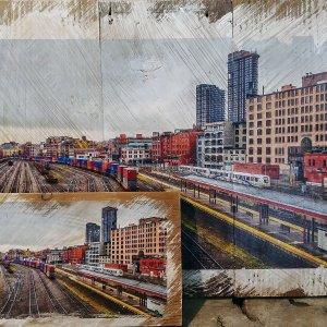 Downtown Train Yard Wall Decor by Kelly Cushing