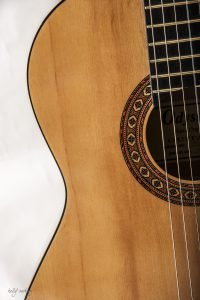 Middle of Guitar by Kelly Cushing Photography