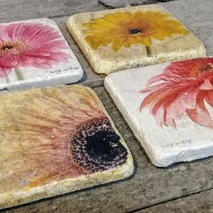 Set of 4 Gerbera Coasters