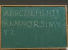 The example of an upright capital alphabet from Professor Inciong