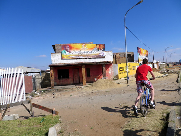 Riding through Soweto