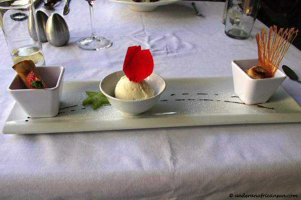 Chocolate Springrolls with Vanilla Ice-Cream