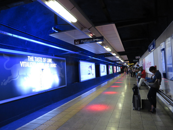 Waiting for the Gautrain at Sandton Station
