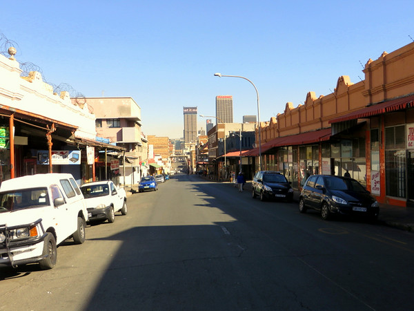 Jeppestown looking towards the CBD